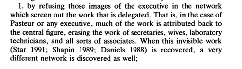 """From Star, Susan Leigh. """"Power, technology and the phenomenology of conventions: on being allergic to onions."""" The Sociological Review 38.S1 (1990): 26-56."""